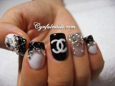 Chanel chanel nail, style, pretti nail, gucci nails, nailss, beauti, hair, nail art, thing