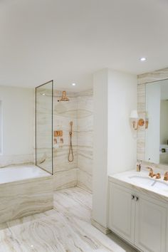 Wow...how gorgeous can you get?  Katharine Pooley copper bathroom