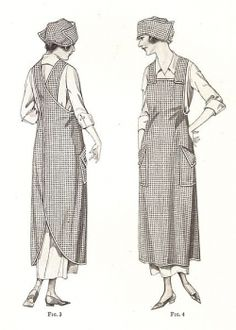 Apron Patterns you can sew. Plus Vintage and Retro, Cute or funny patterns you can quickly sew to wear around the kitchen. How to make a apron...
