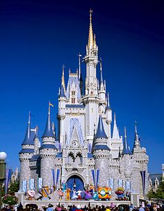 Cinderella's castle in Disneyworld, never gets old