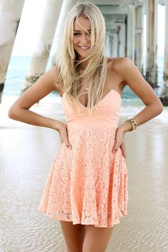 Stunning Apricot Colour Dress.