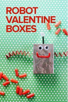 Robot Valentine Boxes DIY - Oh Happy Day