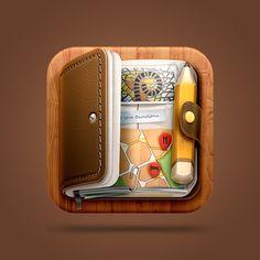very detailed - Journal #iOS Icon  by Román Jusdado #icon #design