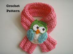 Crochet Owl Scarfette Scarf Pattern PDF
