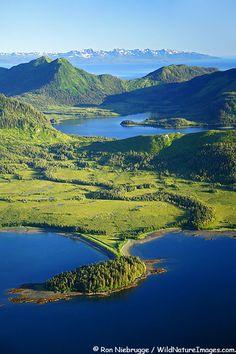 Port Fidalgo and Two Moon Bay with Hitchenbrook Island, Prince William Sound, Chugach National Forest, Alaska