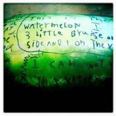 mamascout :: invite your kids to write on some fruit!