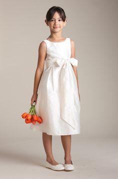 A-line Silk Dress and Silk Sash