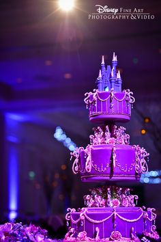 Wedding Cake Wednesday: Purple Dazzler for the couple who wants something unique and fabulous #Disney #WeddingCakeWednesday #wedding #cake