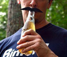 Mustache Beer Markers :D funny