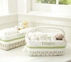 Green Harper Nursery Storage #PotteryBarnKids