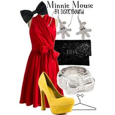 Minnie Mouse, created by lalakay.polyvore.com