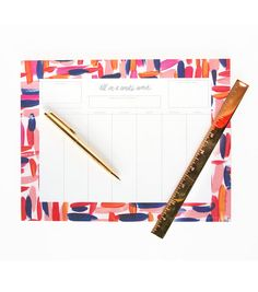 All in a Weeks Work Weekly Calendar Notepad by thimblepress, $20.00