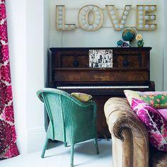 upright piano. sign. colors. so fun!