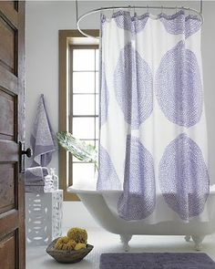 purple in the bathroom #purple #bathroom #showercurtain