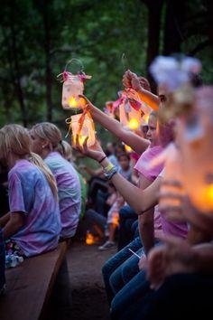 lantern, spray, girls camp theme, camp crafts, young women, sticker, girl camp, mason jars, light
