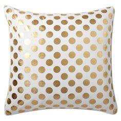 gold dottie throw pillow
