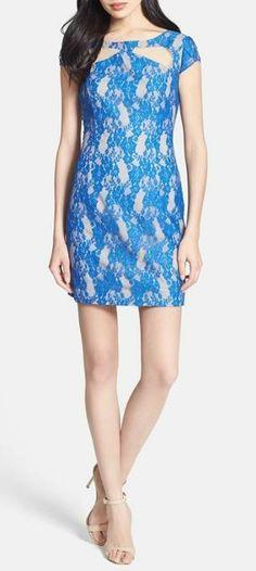 Cutout Lace Sheath Dress