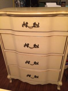 French Provincial tall dresser