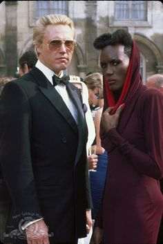 Still of Christopher Walken and Grace Jones in A View to a Kill