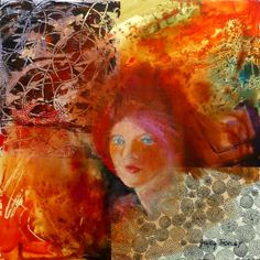 Girl with Orange Background ....judy thorley