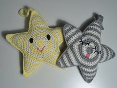 crocheted star rattles
