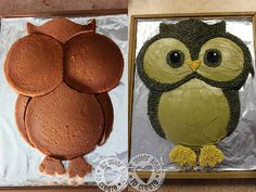 DIY Cute Owl Cake 2