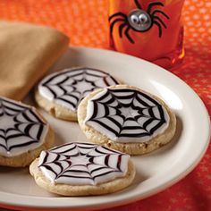 Halloween Sweets from Gooseberry Patch  | Spiderweb Cookies | MyRecipes.com