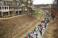 Check out our Highland Park townhomes at the Eastside 10K - December 2013 by Atlanta BeltLine