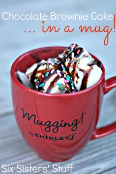 Chocolate Brownie Cake in a Mug
