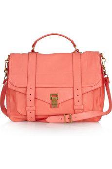 Love larg leather, shoulder bags, leather satchel, purs, messenger bags, summer bags, summer colors, proenza schouler, leather bags