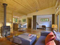 Joan Heaton Architects Modern Cabin architect, modern living rooms, cabin, curtains, garage apartments, studios, studio apartments, apartment design, floor plans