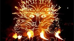 The Sun King burns during the closing ceremony  Pyrotechnics burn during the Closing Ceremony of theParalympic Games at the Olympic Stadium.
