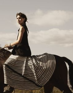 fashion, skirt patterns, nature, horses, horse farms, wild at heart, dream life, arizona muse, bohemian style