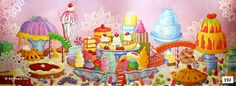 192D Kingdom of Sweets Candy Backdrop