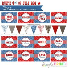 Free-some can be used for cowboy party  Rustic 4th July BBQ Free Printable Party by DimplePrints-2