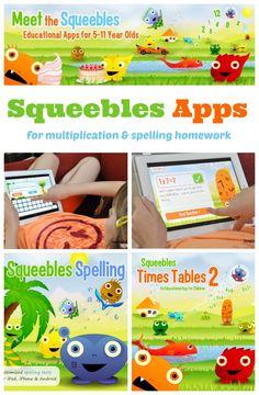 soups, homework, spelling, multiplication apps, learn, squeebl spell, kid