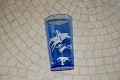 Vintage Hazel Atlas Hunt Pattern Cobalt Blue And by WisdomLane, $12.00