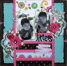 bo bunni, first day jitters, naranjo aguirr, color blue, scrapbook layout