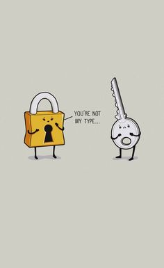 Lock And Key - Funny iPhone wallpapers mobile9
