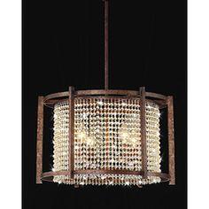 Iron & Crystal Light Fixture