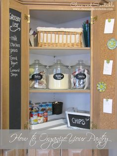 Clean & Scentsible: Pantry Organization {The Household Organization Diet}