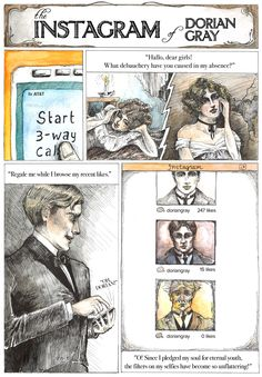 Classic Literature, Reimagined For The Smartphone Era - The Instagram Of Dorian Gray Oscar Wilde