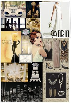 Art deco inspired for a 1920's jazz theme event