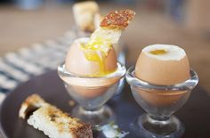 3 minutes egg w/ toast soldiers... so easy yet so good!  Cooks for 6 minutes????