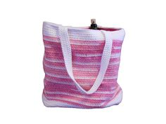 Crocheted Lined Tote Bag available in dozens of by CustomBearHugs,