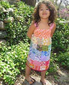 Kid's Rainbow Patchwork Dress