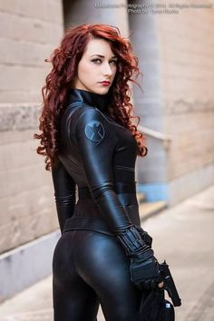 Black Widow cosplay....her outfit is really cool!