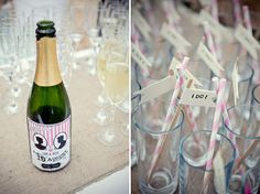 bridal musings, bottle labels, straw, barn weddings, cocktail, wedding blog, barns, bottles, unique weddings