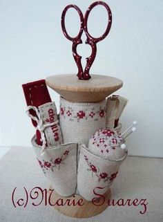 cross stitch pattern Bobine Coquette from Marie Suarez at thecottageneedle.com