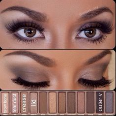 simple eye makeup using the Urban Decay Palette 1 - Click image to find more makeup posts